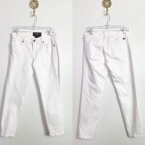 🍒Lucky Brand White Zoe Straight Crop Jean 6/28